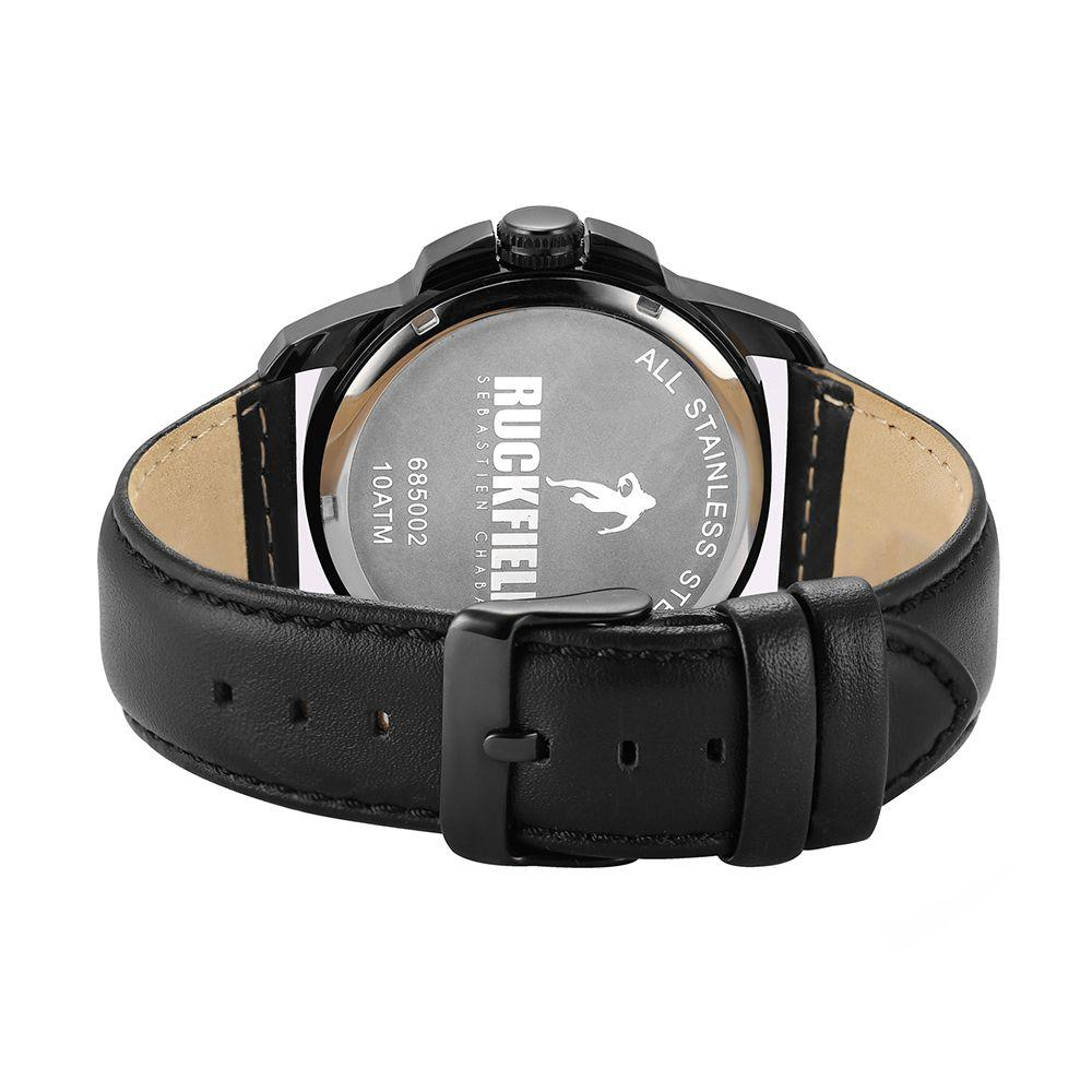 Ruckfield 685002 Black Leather Strap - Goldy Jewelry
