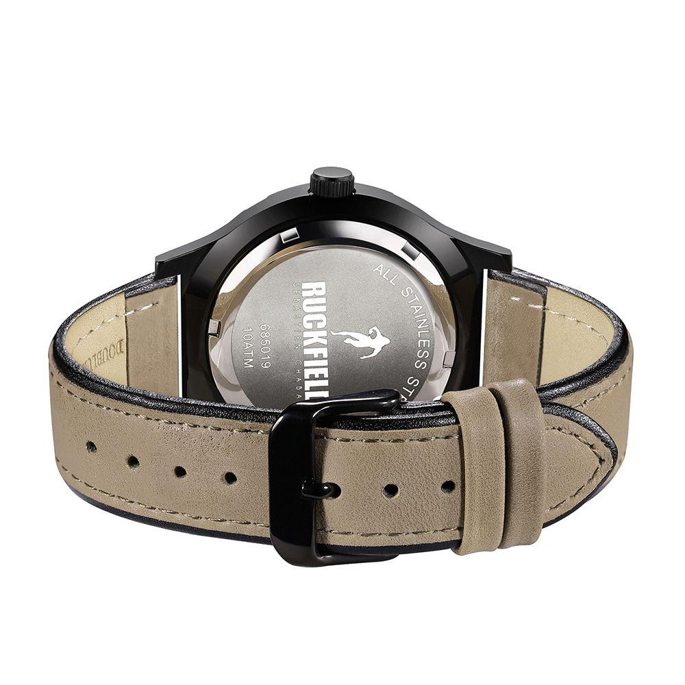 Ruckfield 685019 Two Tone Leather Strap - Goldy Jewelry