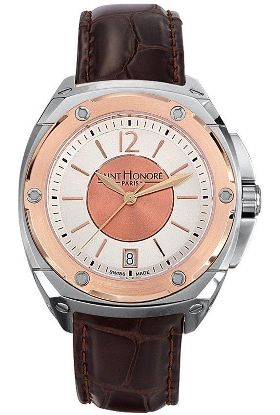 Saint Honore 7660756ARIR Haussman Brown Leather Strap - Goldy Jewelry