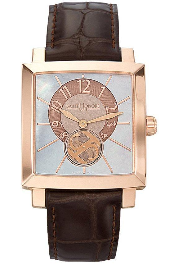 Saint Honore 8630178YMIR Orsay Rose Gold Brown Leather Strap - Κοσμηματοπωλείο Goldy