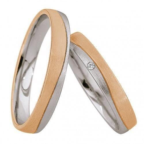 Saint Maurice Light Collection 87000-87001 Bicolor Wedding Rings - Goldy Jewelry