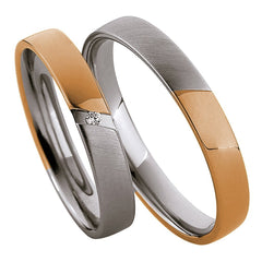 Saint Maurice Light Collection 87014-87015 Bicolor Wedding Rings - Goldy Jewelry
