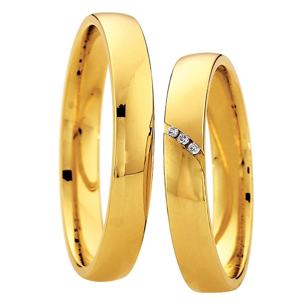 Saint Maurice Light Collection 87024-87025 Gold Wedding Rings - Goldy Jewelry Store