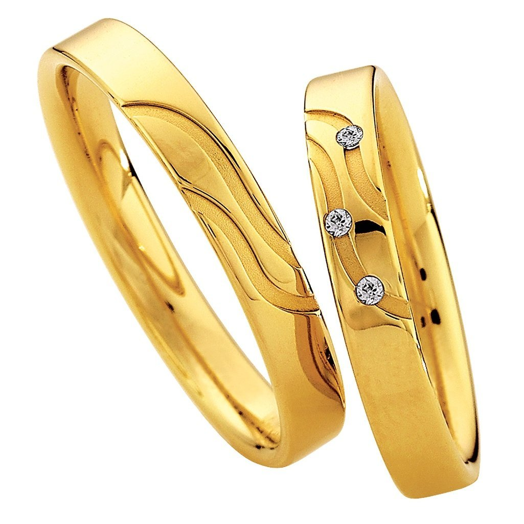 Saint Maurice Light Collection 87026-87027 Gold Wedding Rings - Goldy Jewelry Store
