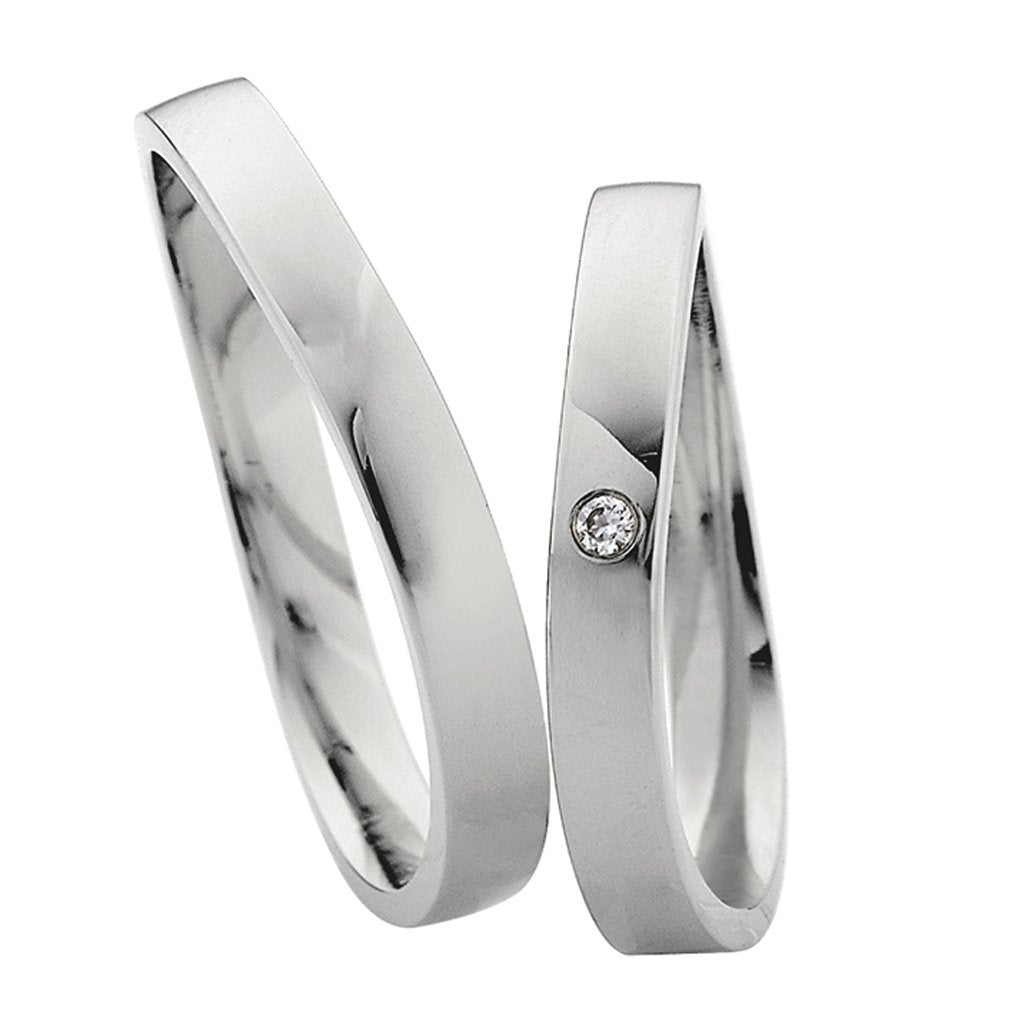 Saint Maurice Light Collection 87028-87029 Gold Wedding Rings - Goldy Jewelry Store