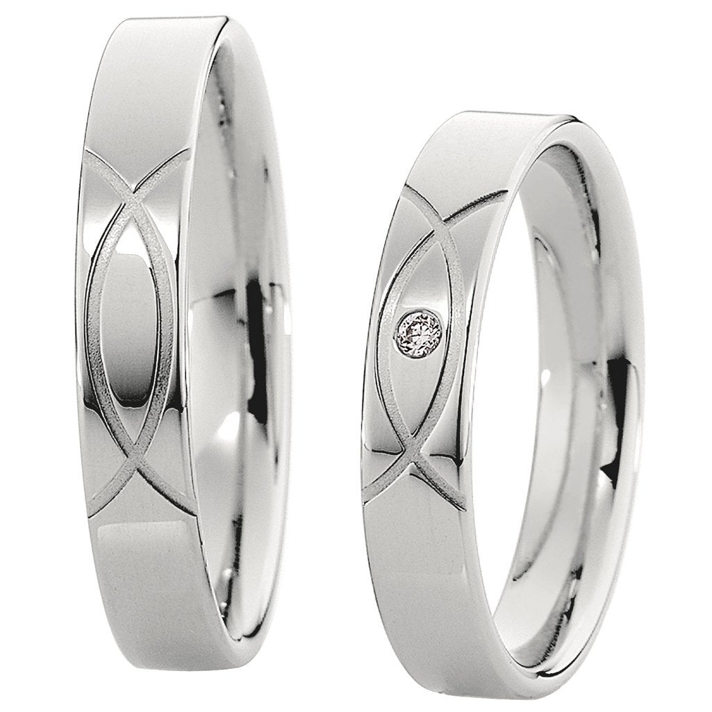 Saint Maurice Light Collection 87038-87039 Gold Wedding Rings - Goldy Jewelry Store