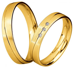 Saint Maurice Light Collection 87044-87045 White Gold Wedding Rings - Goldy Jewelry Store