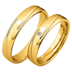 Saint Maurice Light Collection 87046-87047 White Gold Wedding Rings - Goldy Jewelry Store