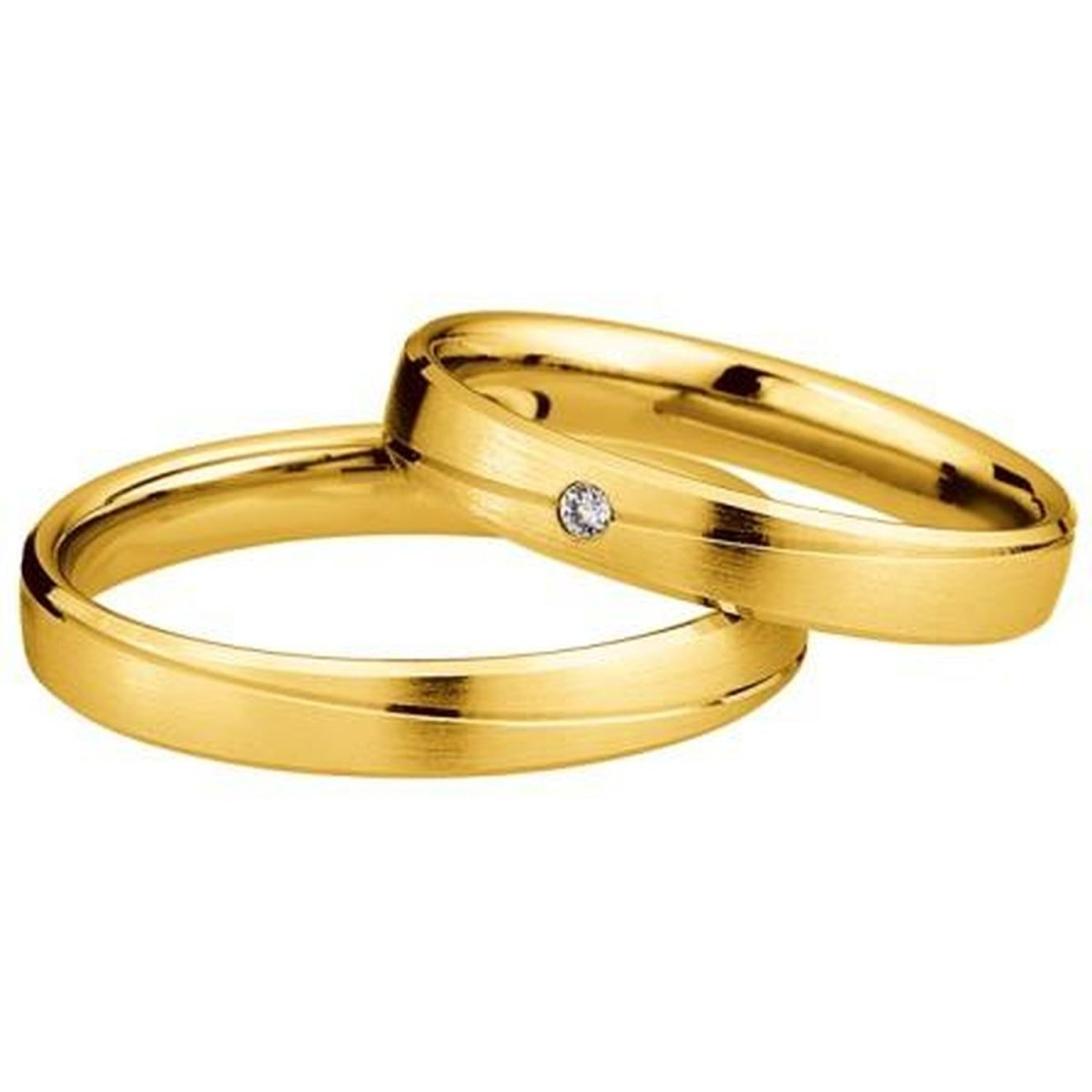 Saint Maurice Light Collection 87048-87049 White Gold Wedding Rings - Goldy Jewelry Store