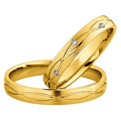Saint Maurice Light Collection 87056-87057 White Gold Wedding Rings - Goldy Jewelry Store