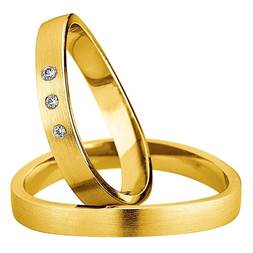 Saint Maurice Light Collection 87058-87059 White Gold Wedding Rings - Goldy Jewelry Store