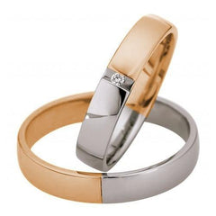 Saint Maurice Light Collection 87064-87065 Bicolor Wedding Rings - Goldy Jewelry