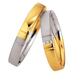 Saint Maurice Light Collection 87068-87069 Bicolor Wedding Rings - Goldy Jewelry