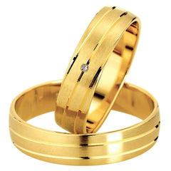 Saint Maurice Slim Collection 81500-81501 Gold Wedding Rings - Goldy Jewelry Store