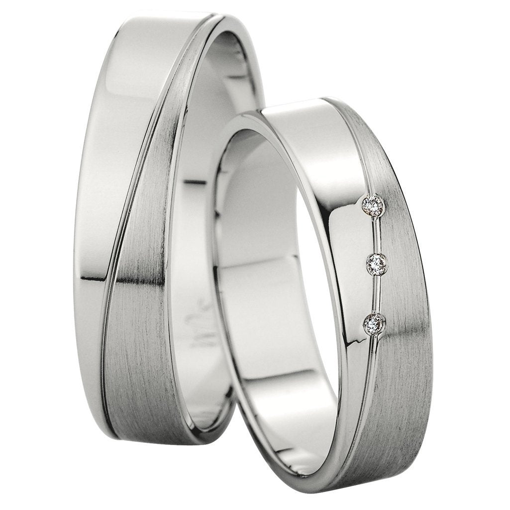 Saint Maurice Slim Collection 81504-81505 Gold Wedding Rings - Goldy Jewelry Store