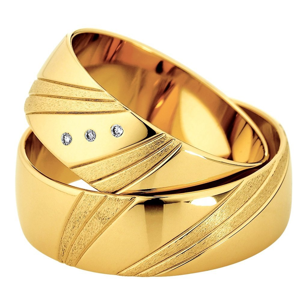 Saint Maurice Slim Collection 81524-81525 Gold Wedding Rings - Goldy Jewelry Store