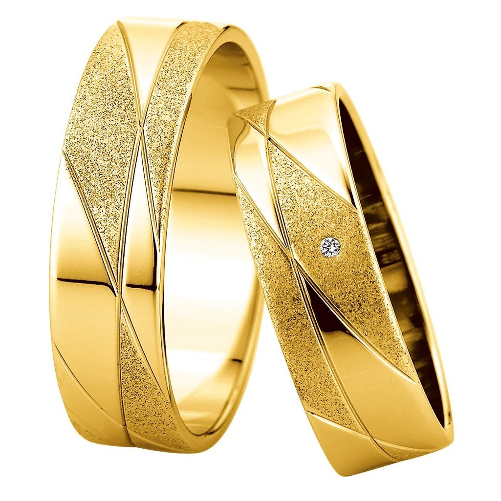 Saint Maurice Slim Collection 81536-81537 White Gold Wedding Rings - Goldy Jewelry Store