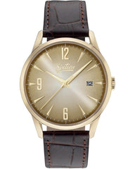 Sixties YGL-04-5 Brown Leather Strap - Κοσμηματοπωλείο Goldy