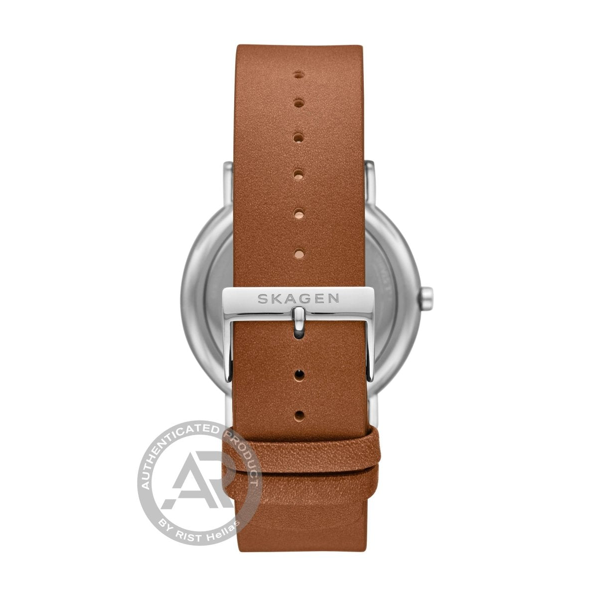 SKAGEN SKW6578 Signature Brown Leather Strap - Κοσμηματοπωλείο Goldy