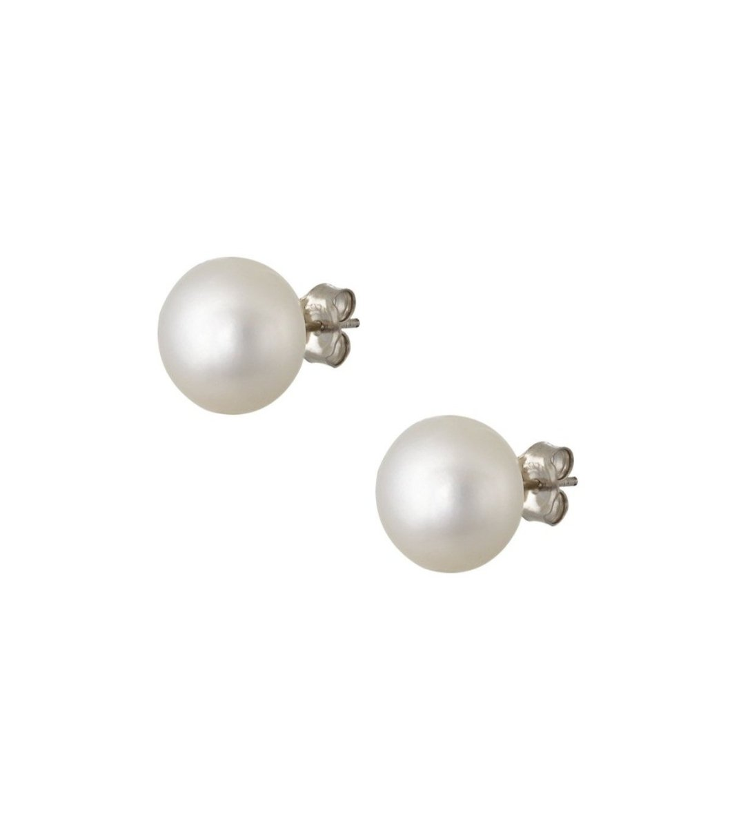 Earrings ER31169 Silver Stud with Pearls 0,9cm - Goldy Jewelry Store