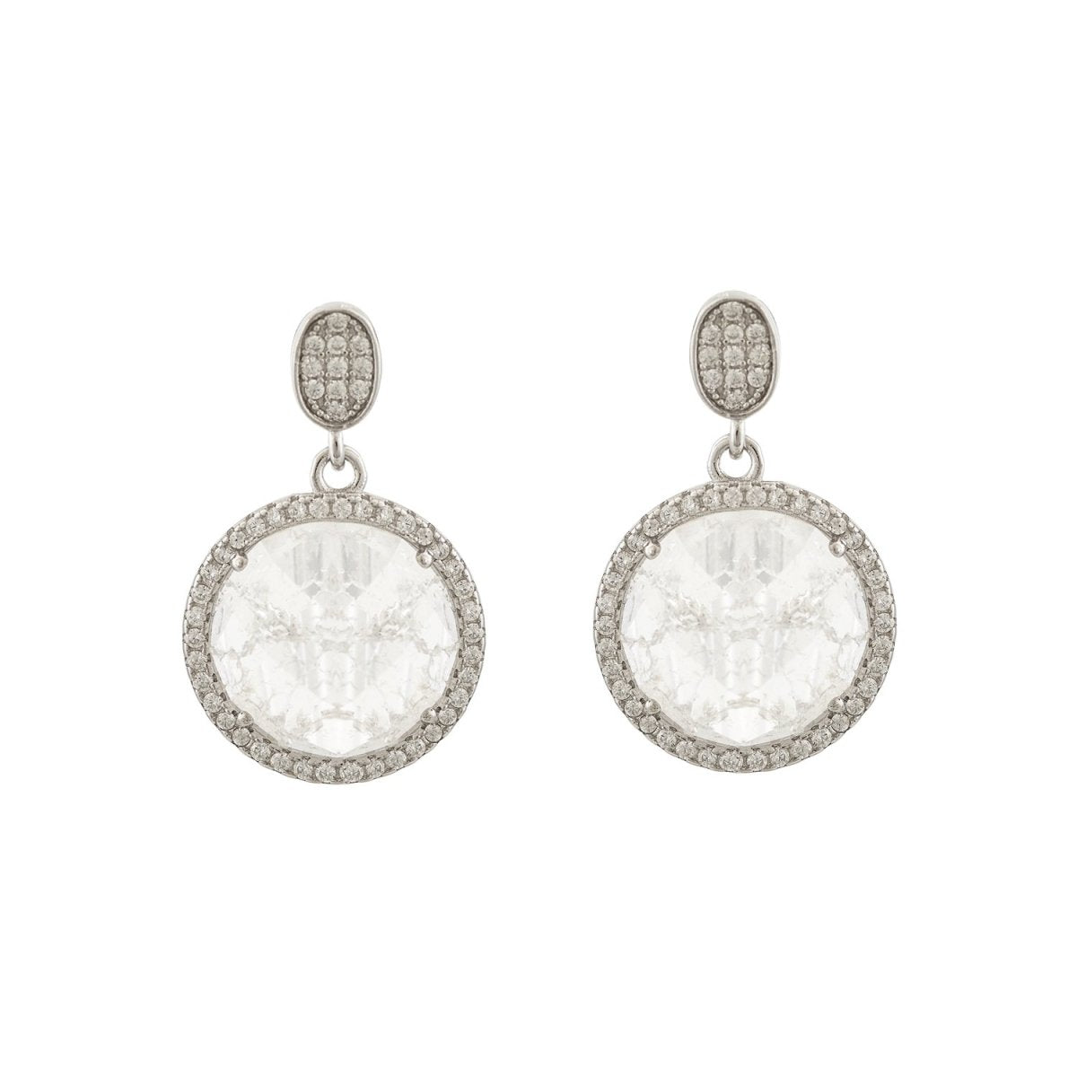 Earrings ES1924 Pendant with Platinum Silver - Goldy Jewelry Store