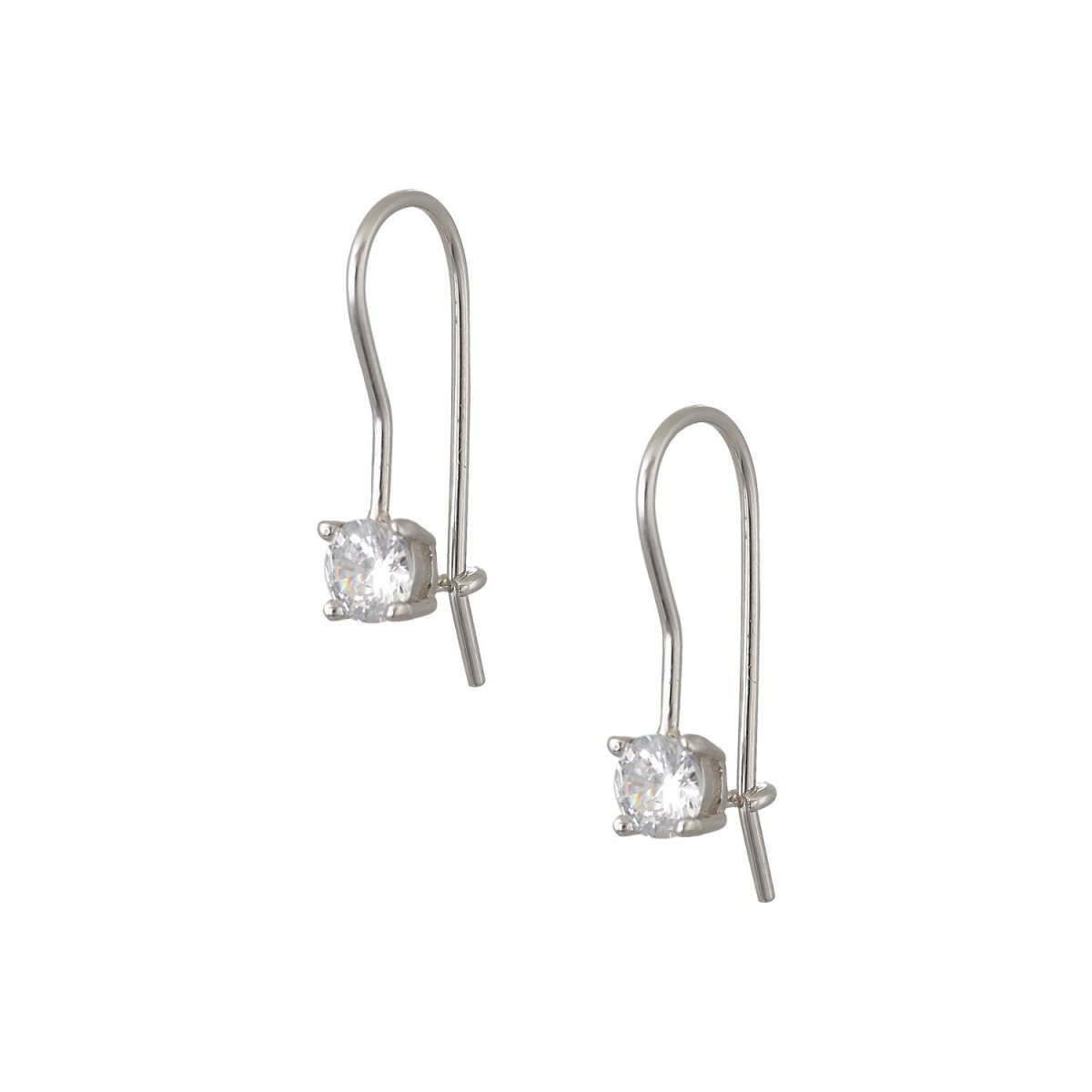 Pendant Earrings ER74410 With Silver and Zircon - Goldy Jewelry Store