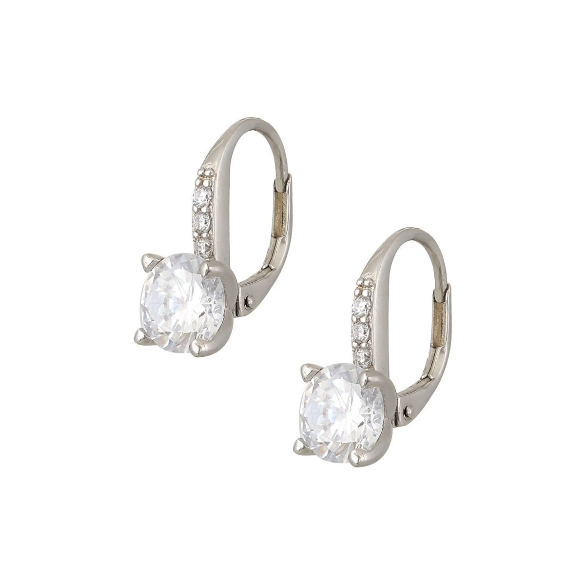 Pendant Earrings ER75482 With Silver and Zircon - Goldy Jewelry Store