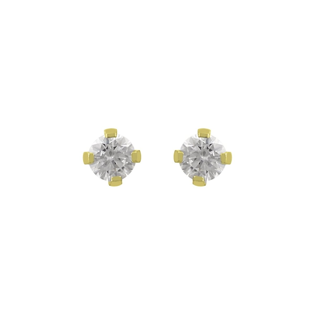 Earrings SK3502G Made of Gold K14 with Zircon - Goldy Jewelry Store