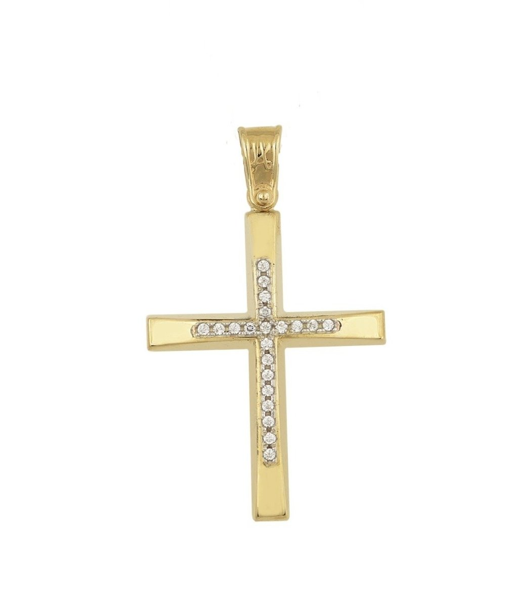 Cross STA4412 Baptism for Girl Gold K14 - Goldy Jewelry Store
