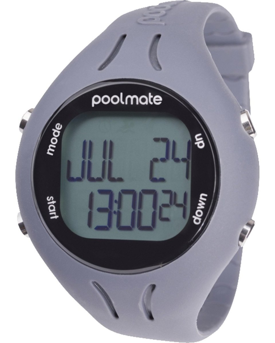 Swimovate Poolmate 2 Swim Watch Grey Rubber Strap - Κοσμηματοπωλείο Goldy
