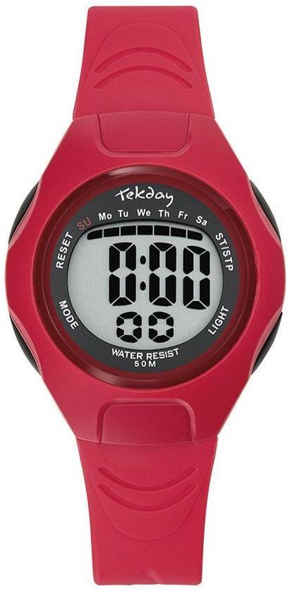 TEKDAY 654663 Red Rubber Strap - Goldy Jewelry