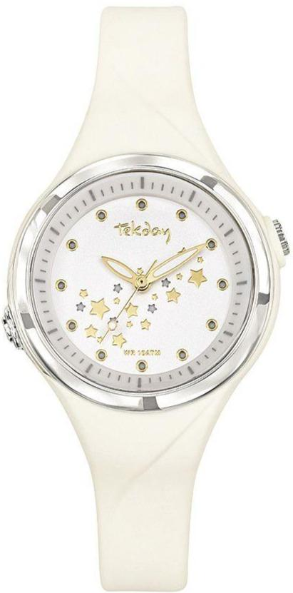 TEKDAY 654677 White Rubber Strap - Goldy Jewelry