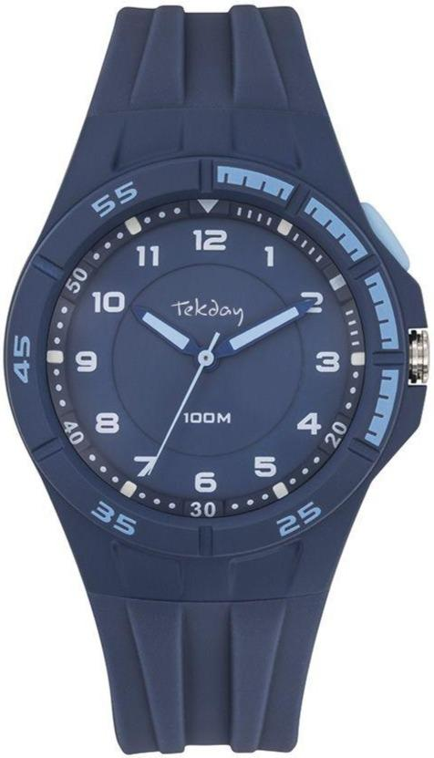 TEKDAY 654682 Blue Rubber Strap - Goldy Jewelry Store