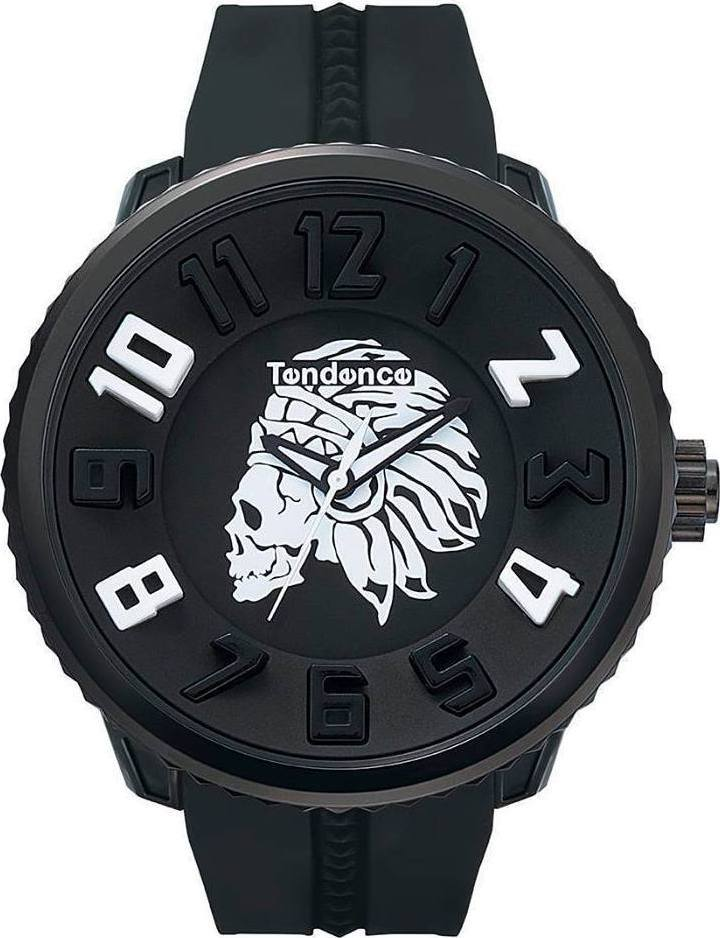 Tendence 05023012A4 Apache Skull Black Rubber Strap - Goldy Jewelry