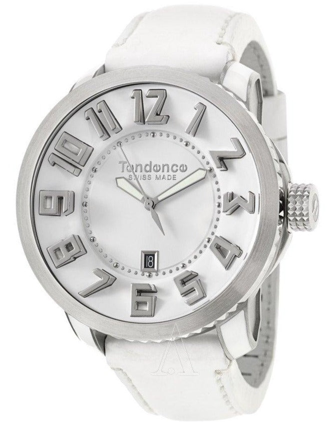 Tendence TE450003 Swiss Made Gulliver White Leather Strap - Κοσμηματοπωλείο Goldy