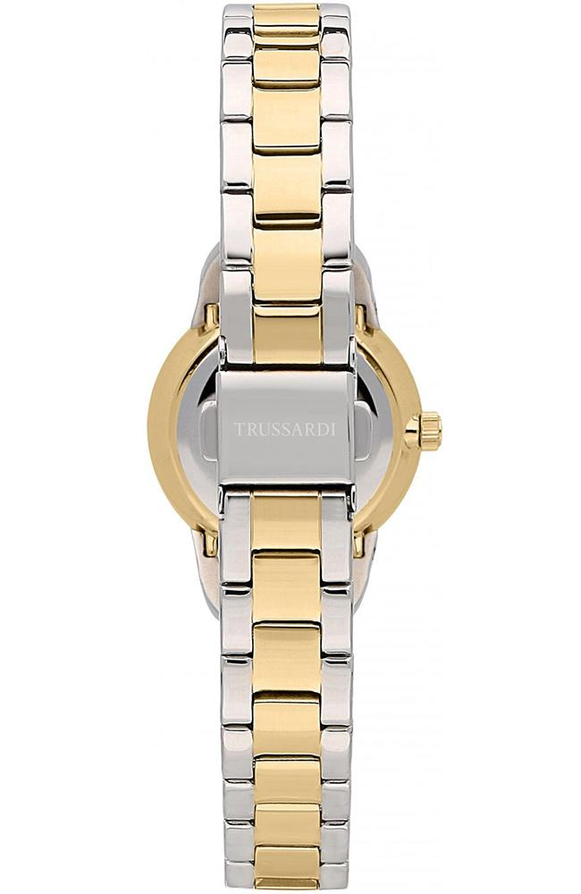 TRUSSARDI R2453142503 T-Original Crystals Two Tone Stainless Steel Bracelet - Jewelry Goldy