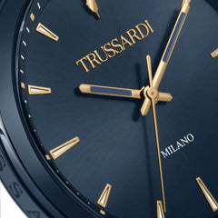 TRUSSARDI R2453143007 T-Couple Blue Stainless Steel Set - Goldy Jewelry Store