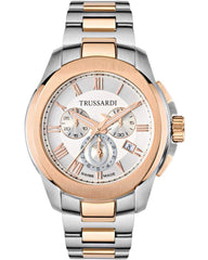 TRUSSARDI R2473100001 Chronograph Two Tone Stainless Steel Bracelet - Κοσμηματοπωλείο Goldy