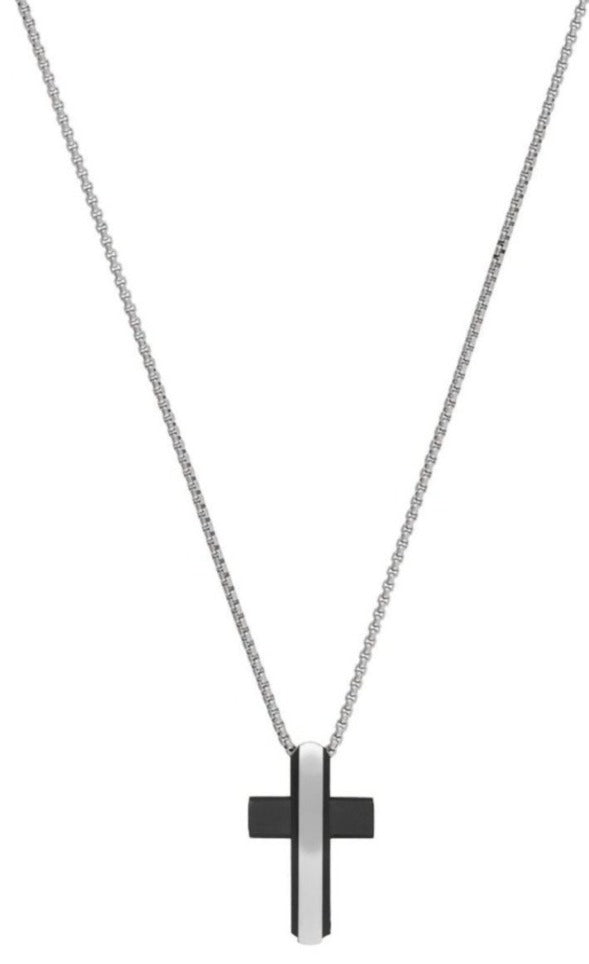 US POLO JW6025NK Stainless Steel Cross - Goldy Jewelry Store