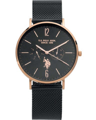 U.S POLO USP4584BK Attitude Black Stainless Steel Watch - Κοσμηματοπωλείο Goldy