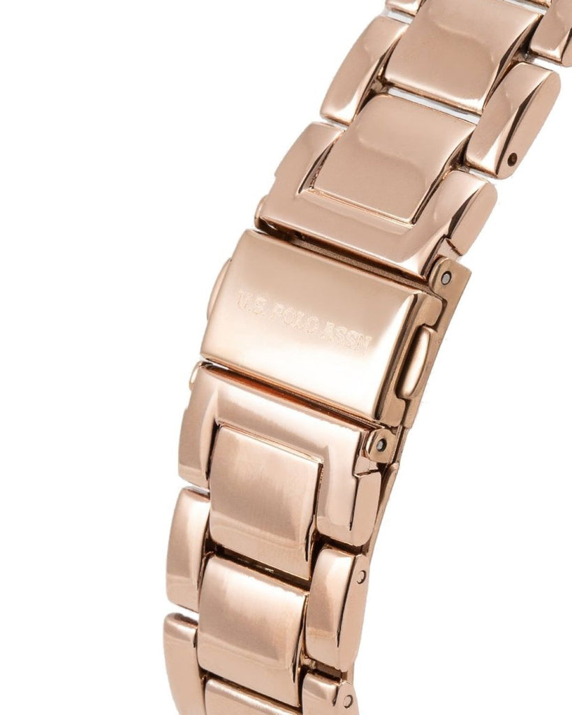U.S POLO USP4698RG Phenix Rose Gold Metallic Bracelet - Κοσμηματοπωλείο Goldy