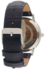US POLO USP4799ST Oliver Blue Leather Strap - Goldy Jewelry