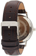 US POLO USP4800BL Oliver Brown Leather Strap - Goldy Jewelry