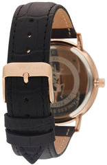 US POLO USP4803RG Oliver Black Leather Strap - Goldy Jewelry