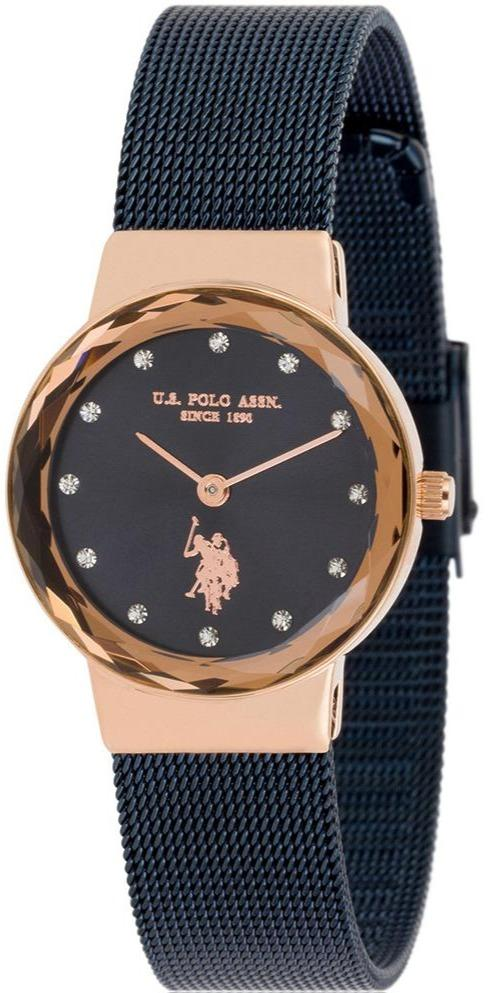 US POLO USP5871BL Angelique Crystals Blue Stainless Steel Bracelet - Goldy Jewelry