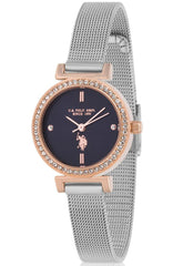 US POLO USP5924BL Seleve Crystals Stainless Steel Bracelet - Goldy Jewelry Store