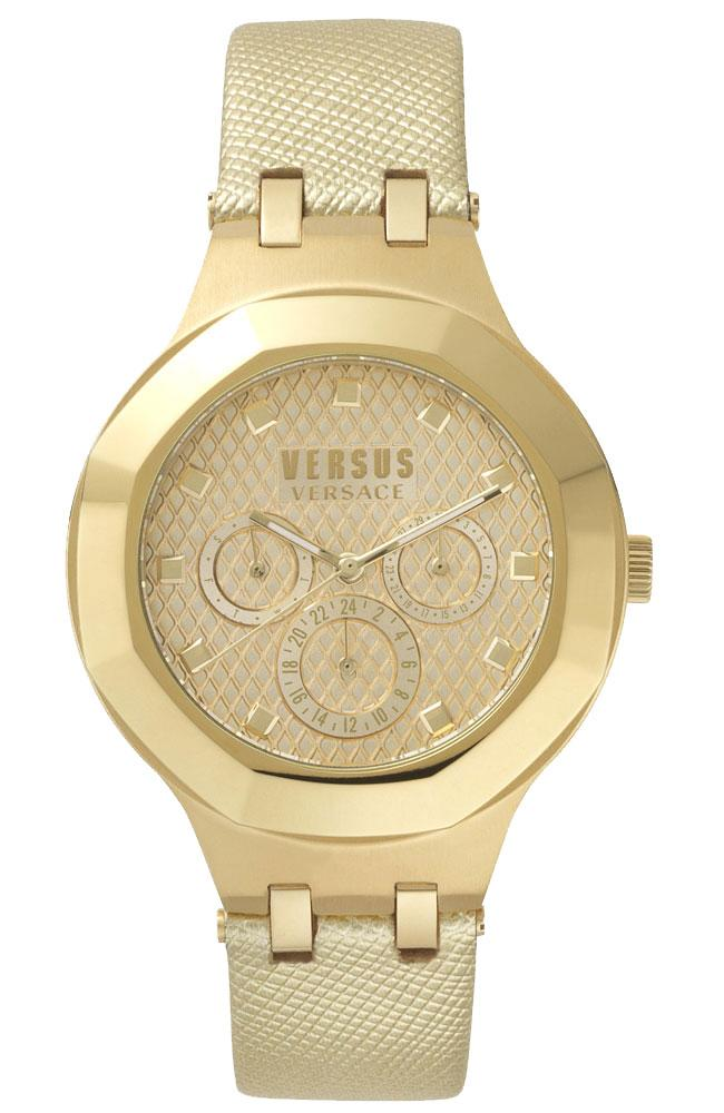 VERSUS VERSACE VSP360217 Laguna City Gold Leather Strap - Κοσμηματοπωλείο Goldy