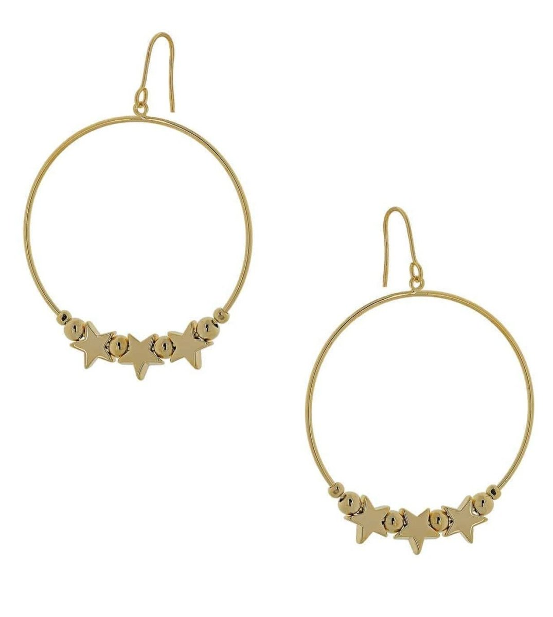 Visetti MS-WSC046G Earrings Rings Gold plated Stars - Goldy Jewelry Store