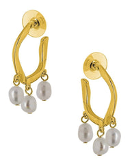 Visetti MS-WSC059G Gold Plated Steel Rings with Pearls - Goldy Jewelry Store