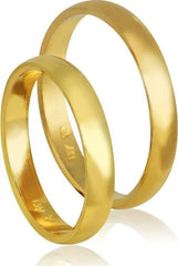 Golden Wedding Rings HR2 Stergiadis - Goldy Jewelry Store